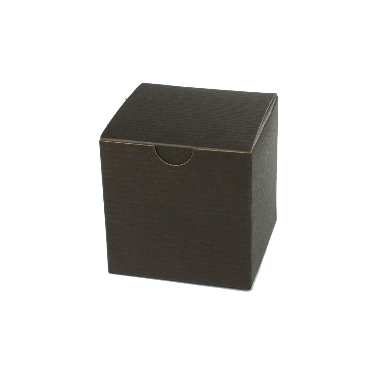 3 x 3 x 3 BLACK PINSTRIPE TUCK-TOP GIFT BOXES