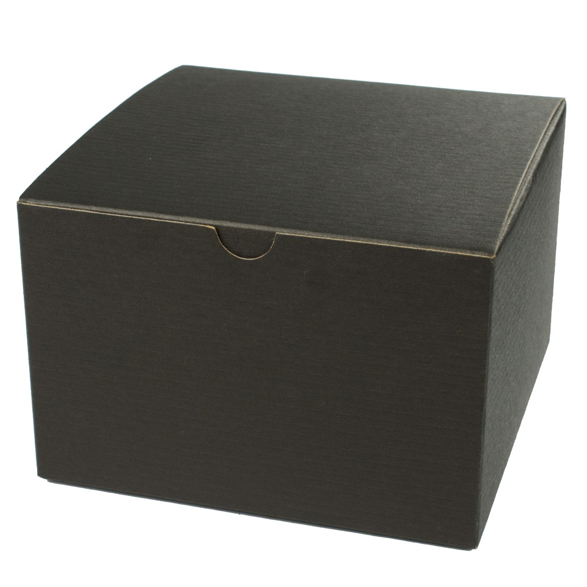 6 x 6 x 6 BLACK PINSTRIPE TUCK-TOP GIFT BOXES