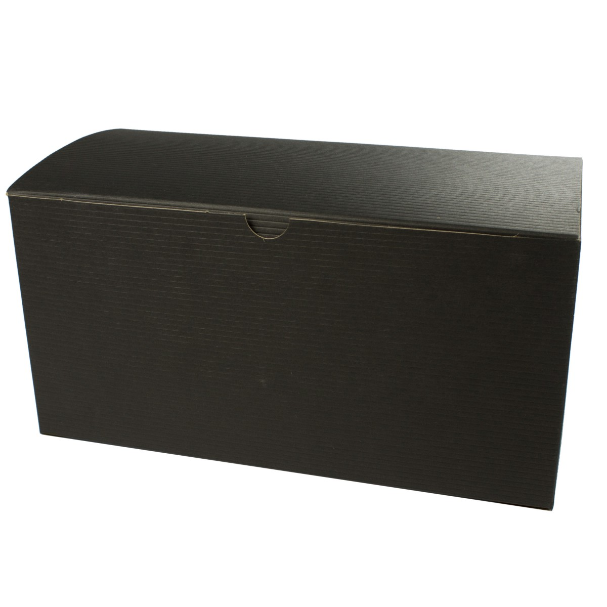 10 x 5 x 4 BLACK PINSTRIPE TUCK-TOP GIFT BOXES