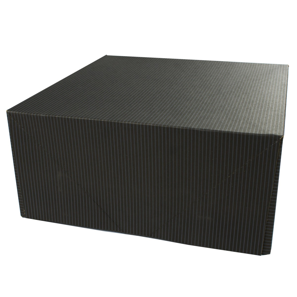12 x 12 x 5.5 BLACK PINSTRIPE TWO-PIECE GIFT BOXES