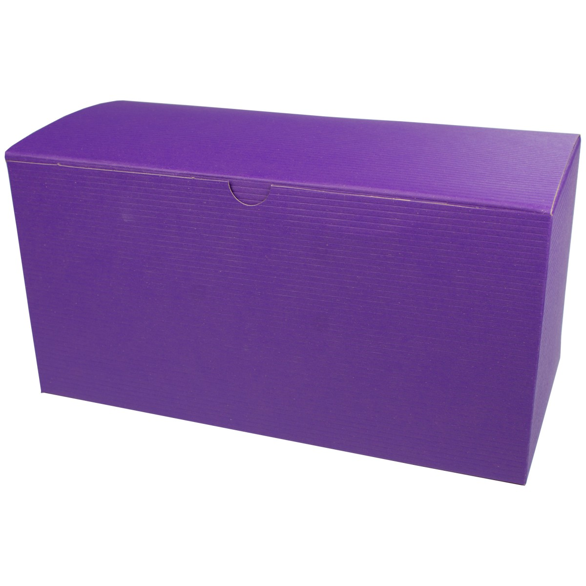 12 x 6 x 6 PURPLE TINTED TUCK-TOP GIFT BOXES