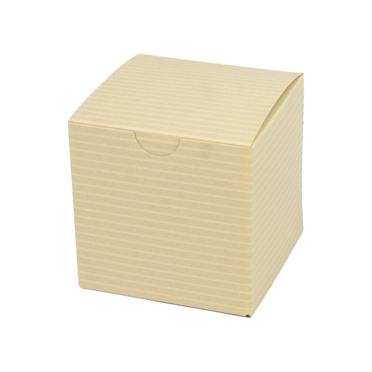 3 x 3 x 3 OATMEAL TINTED TUCK-TOP GIFT BOXES