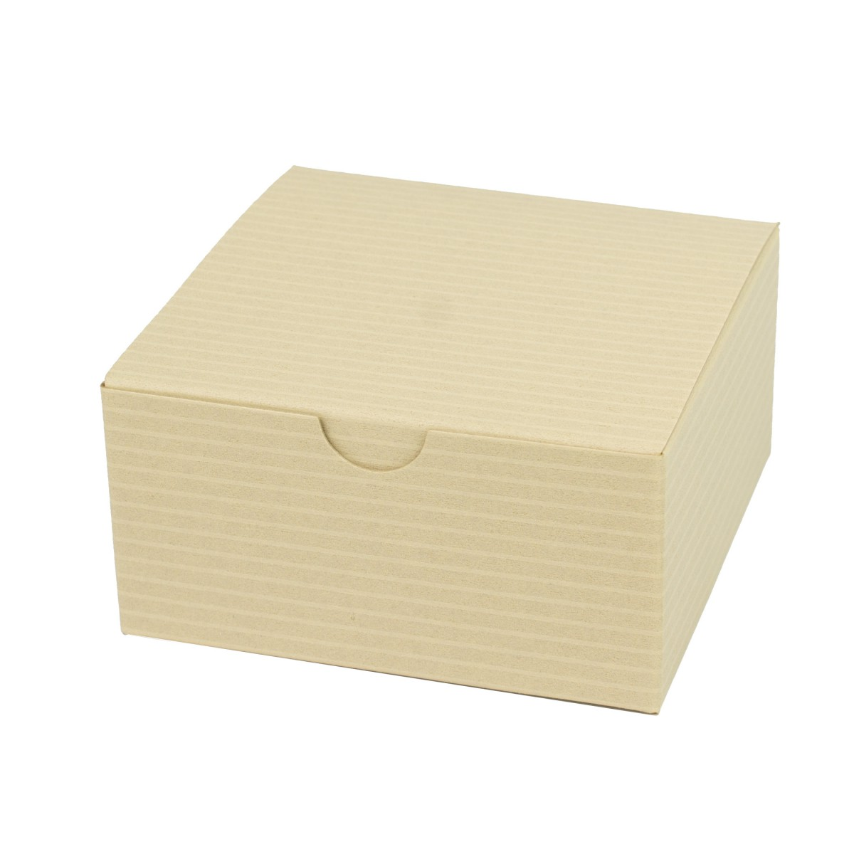 4 x 4 x 2 OATMEAL TINTED TUCK-TOP GIFT BOXES