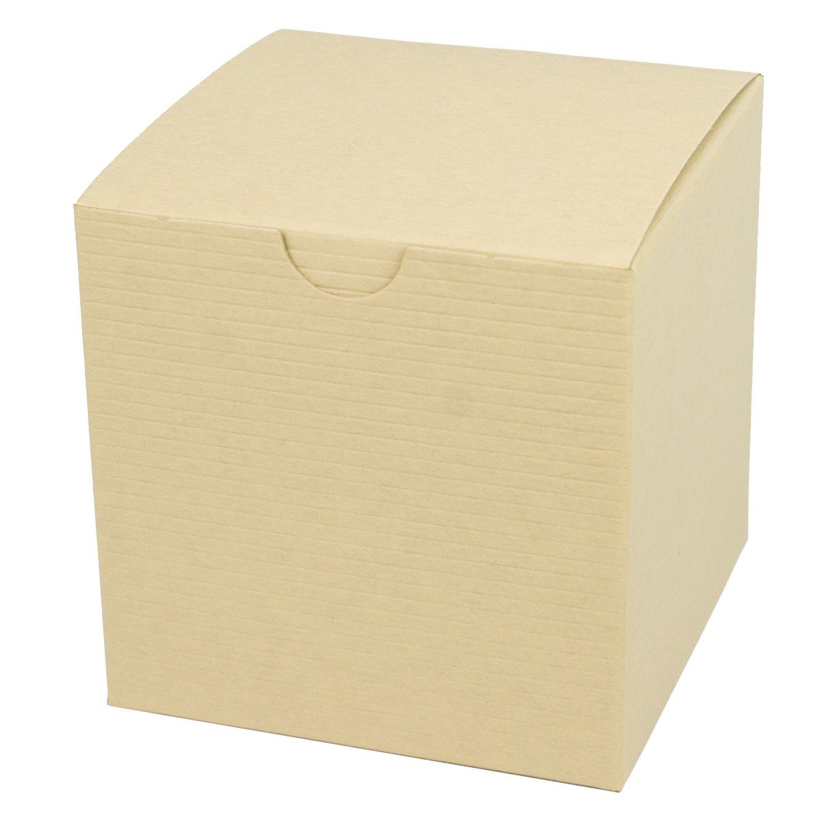 4 x 4 x 4 OATMEAL TINTED TUCK-TOP GIFT BOXES
