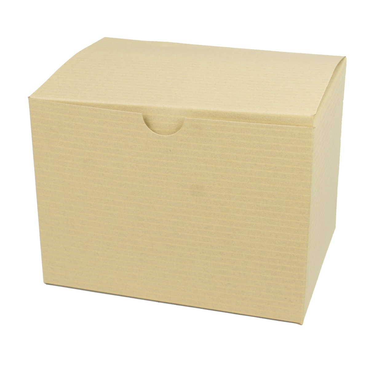 6 x 4.5 x 4.5 OATMEAL TINTED TUCK-TOP GIFT BOXES
