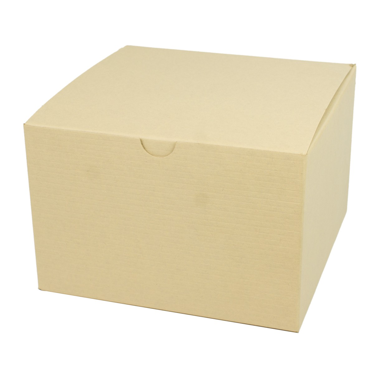 6 x 6 x 4 OATMEAL TINTED TUCK-TOP GIFT BOXES