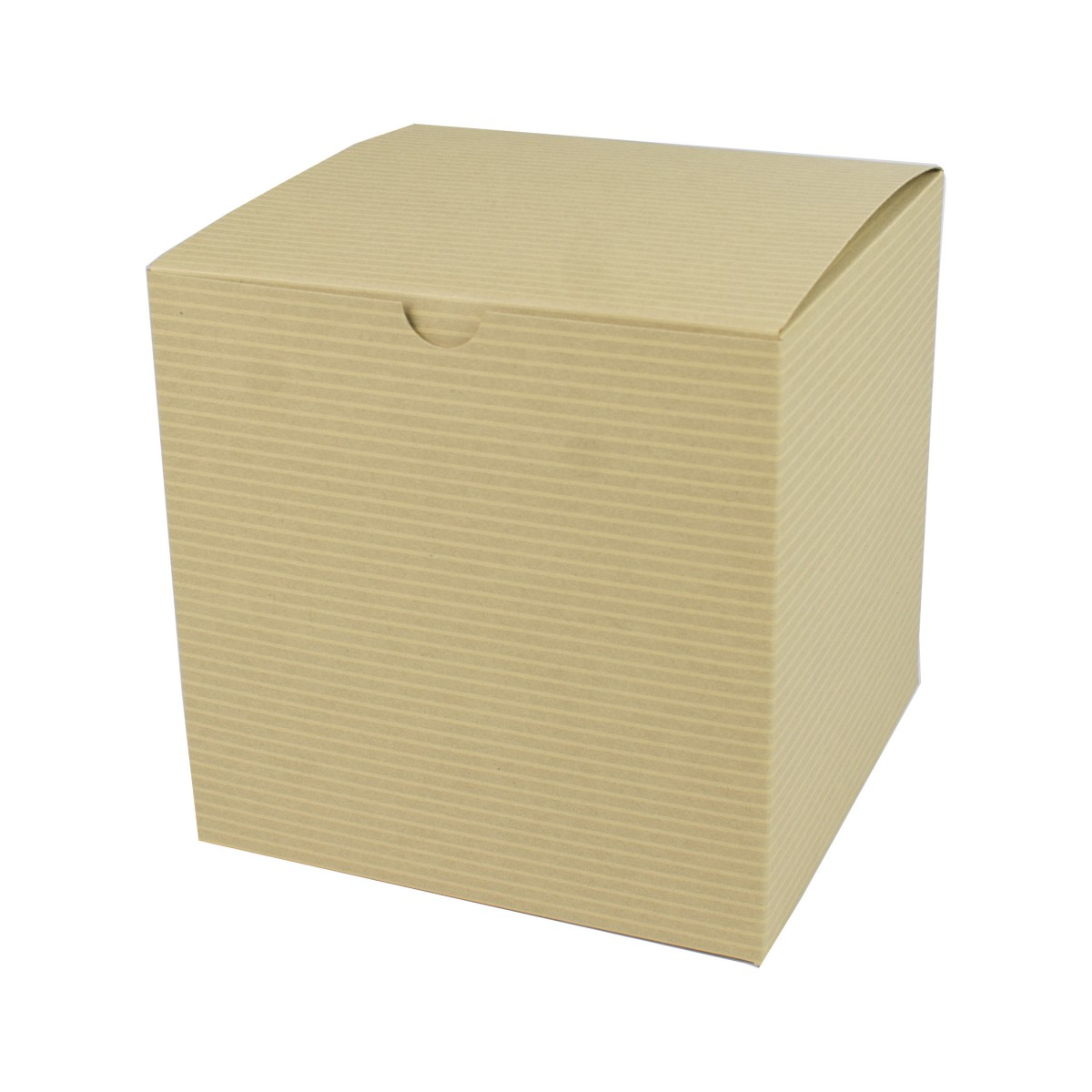 6 x 6 x 6 OATMEAL TINTED TUCK-TOP GIFT BOXES