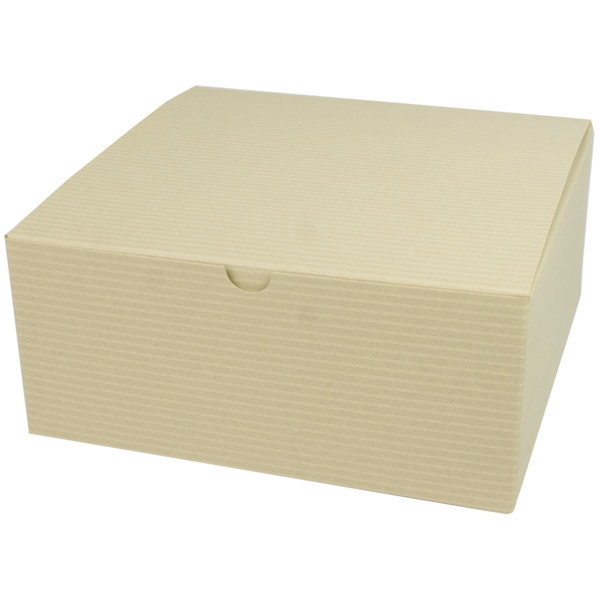 8 x 8 x 3.5 OATMEAL TINTED TUCK-TOP GIFT BOXES