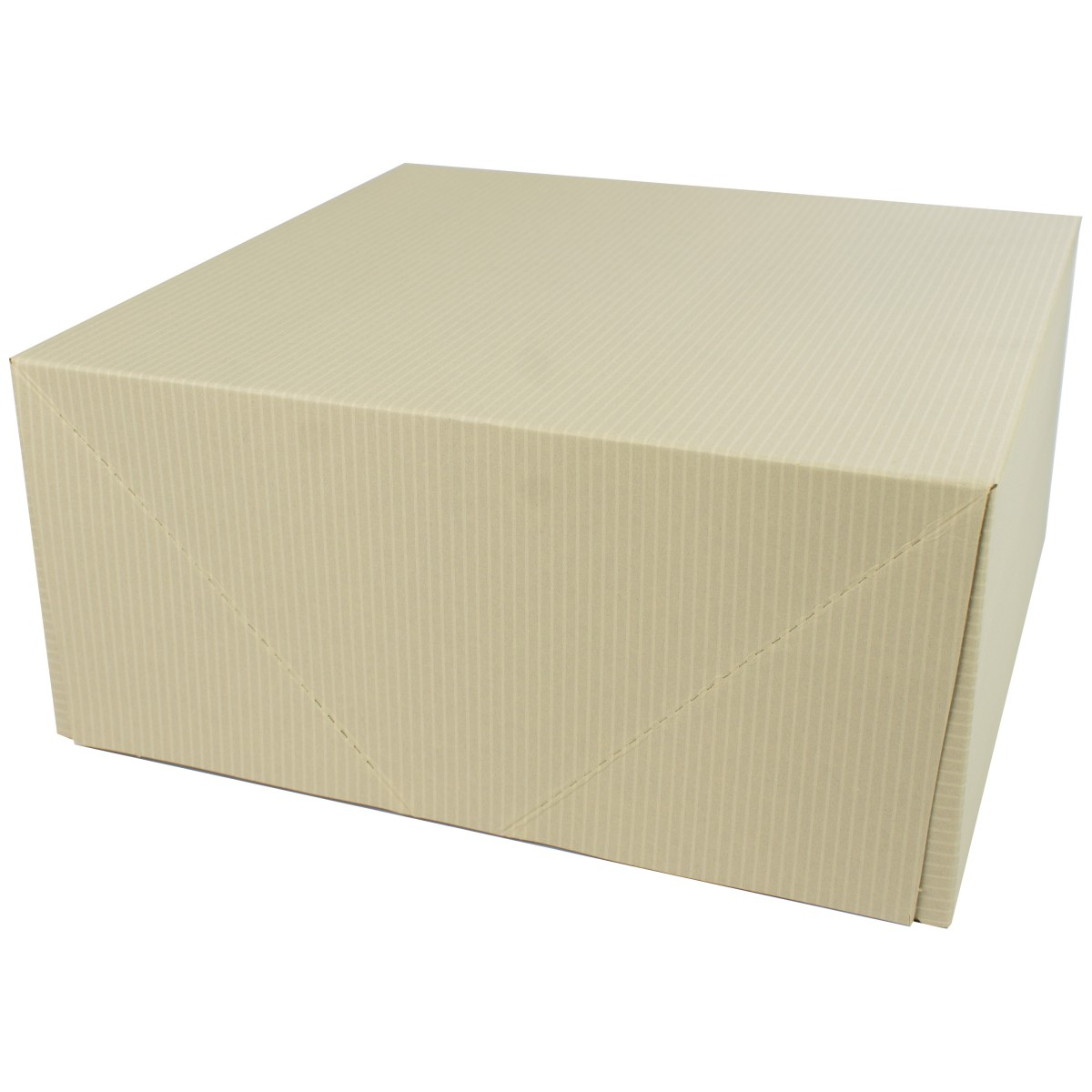 12 x 12 x 5.5 OATMEAL TINTED TWO-PIECE GIFT BOXES