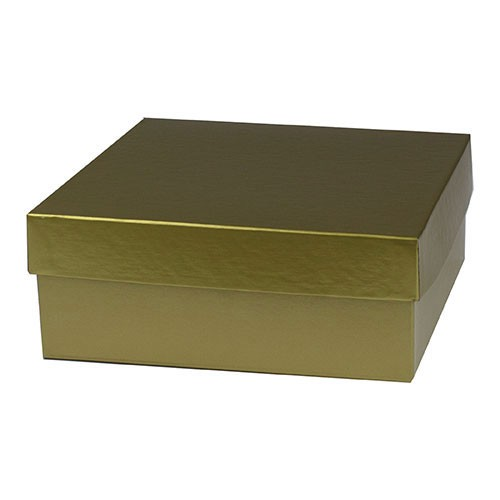 8 x 8 x 3 GOLD HI-WALL GIFT BOX BASES