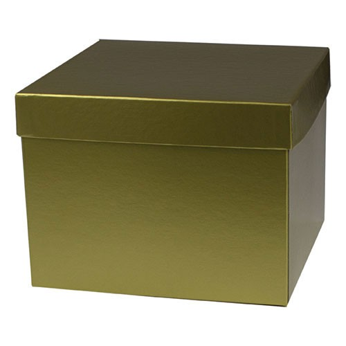 8 x 8 x 6 GOLD HI-WALL GIFT BOX BASES