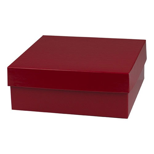 8 x 8 x 3 RED GLOSS HI-WALL GIFT BOX BASES