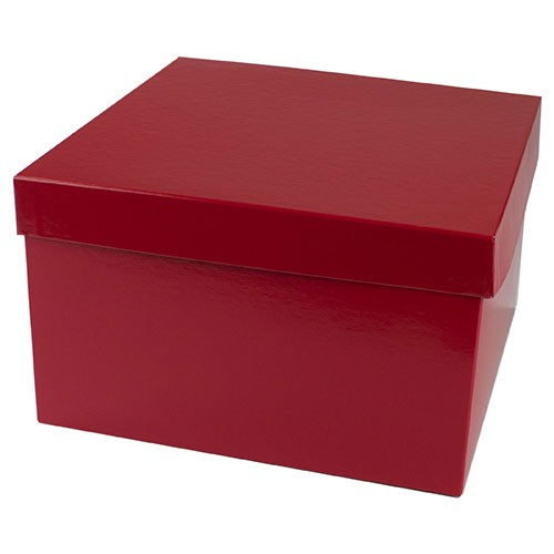 10 x 10 x 6 RED GLOSS HI-WALL GIFT BOX BASES