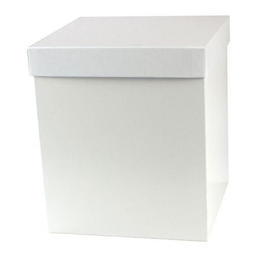 8 x 8 x 6 WHITE GLOSS HI-WALL GIFT BOX BASES