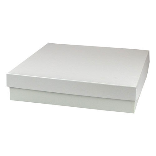 10 x 10 x 3 WHITE GLOSS HI-WALL GIFT BOX BASES
