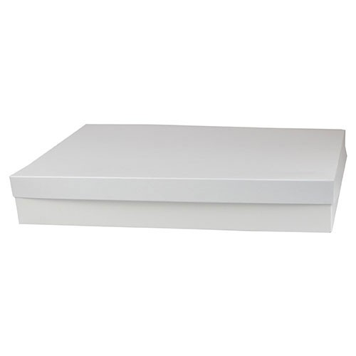19 x 12 x 3 WHITE GLOSS HI-WALL GIFT BOX BASES