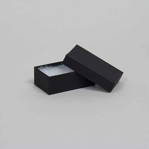 (#21) 2-1/2 x 1-1/2 x 7/8 MATTE ONYX BLACK JEWELRY BOXES