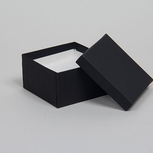 (#34) 3-1/2 x 3-1/2 x 2 MATTE ONYX BLACK JEWELRY BOXES