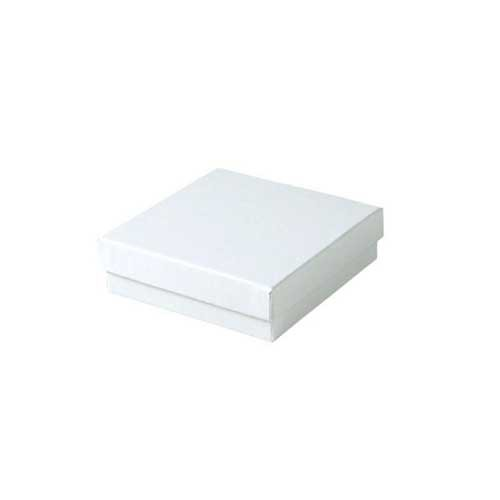 (#33) 3-1/2 x 3-1/2 x 1 WHITE GLOSS JEWELRY BOXES