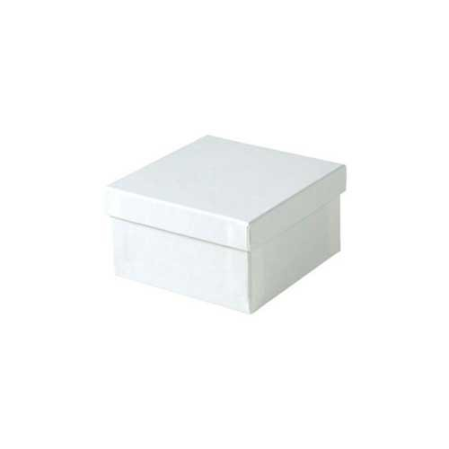 (#34) 3-1/2 x 3-1/2 x 2 WHITE GLOSS JEWELRY BOXES