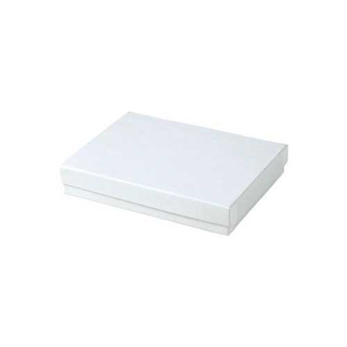 (#53) 5-1/4 x 3-3/4 x 7/8 WHITE GLOSS JEWELRY BOXES