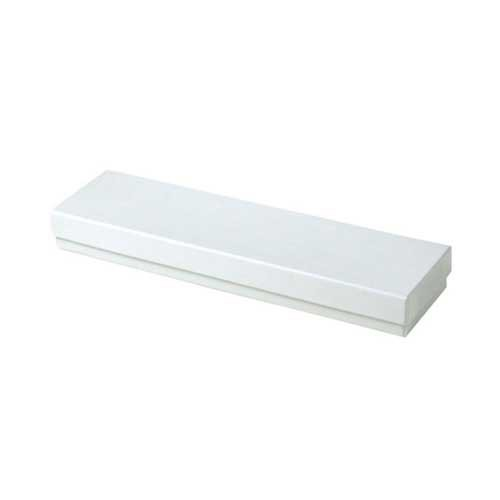 (#82A) 8 x 2 x 7/8 WHITE GLOSS JEWELRY BOXES