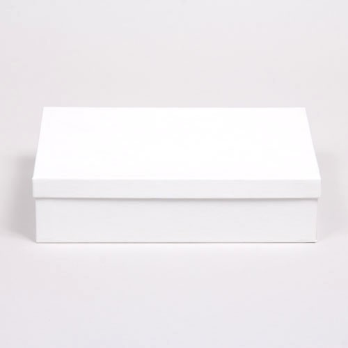 (#85D) 8 x 5-1/2 x 2 WHITE GLOSS JEWELRY BOXES