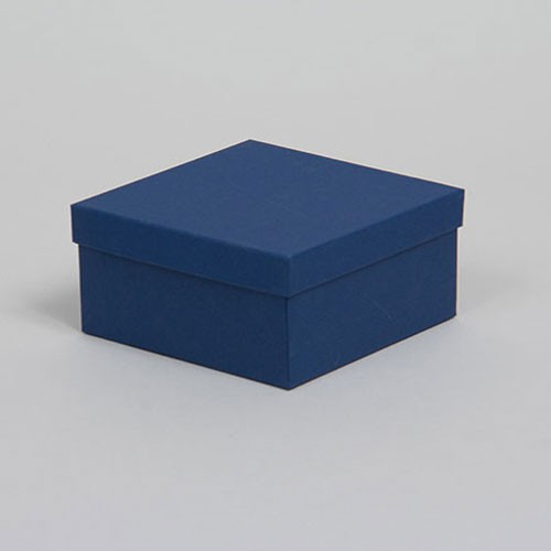 (#33D) 3-1/2 x 3-1/2 x 1-1/2 MATTE NAVY BLUE JEWELRY BOXES