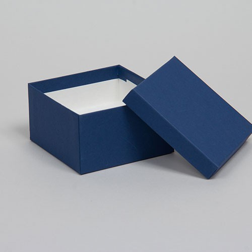 (#34) 3-1/2 x 3-1/2 x 2 MATTE NAVY BLUE JEWELRY BOXES