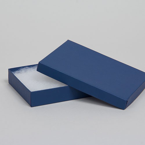 (#53) 5-1/4 x 3-3/4 x 7/8 MATTE NAVY BLUE JEWELRY BOXES