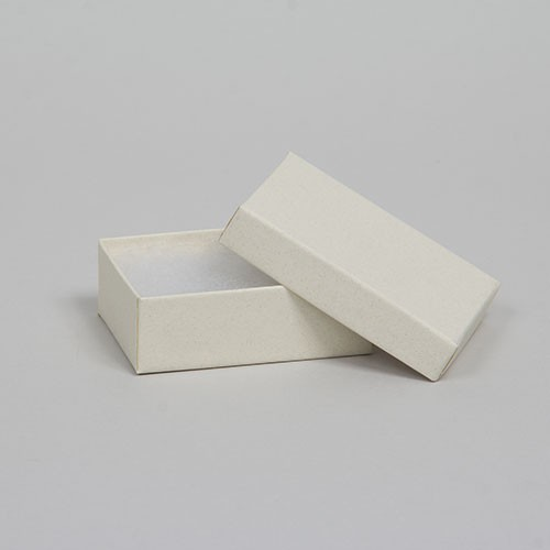 (#21) 2-1/2 x 1-1/2 x 7/8 MATTE WHITE SAND JEWELRY BOXES