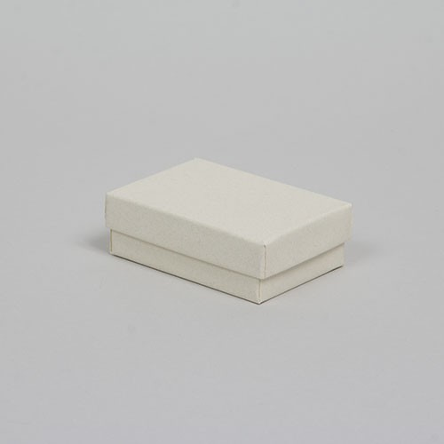 (#32) 3-1/6 x 2-1/8 x 1 MATTE WHITE SAND JEWELRY BOXES