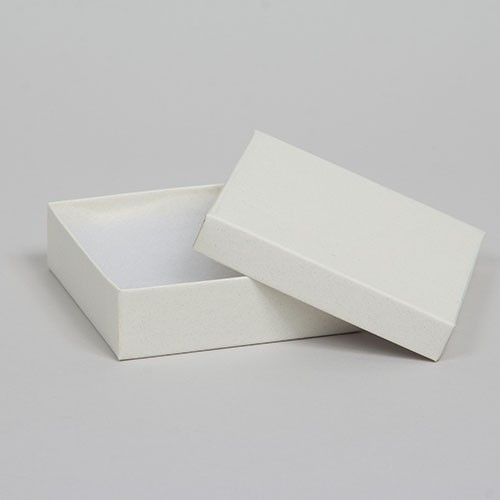 (#33) 3-1/2 x 3-1/2 x 1 MATTE WHITE SAND JEWELRY BOXES