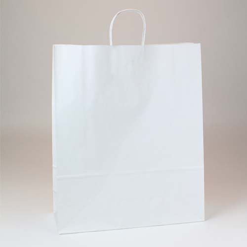 16 x 6 x 19.25 ECONOMY WHITE KRAFT PAPER SHOPPING BAGS ***LIMITED AVAILABILITY***