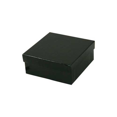 (#33D) 3-1/2 x 3-1/2 x 1-1/2 BLACK GLOSS JEWELRY BOXES