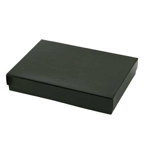 (#53) 5-1/4 x 3-3/4 x 7/8 BLACK GLOSS JEWELRY BOXES