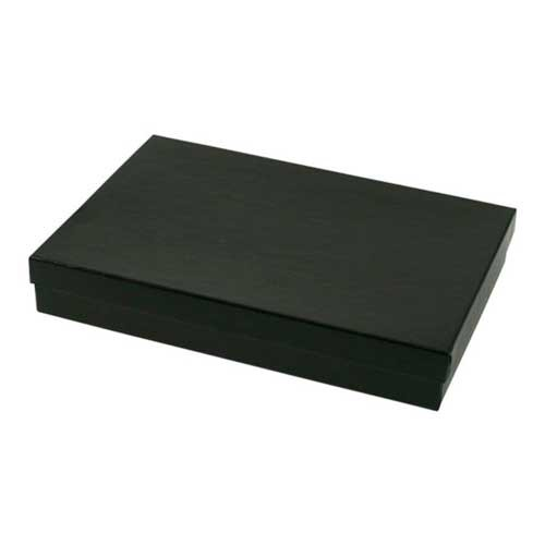 (#85) 8 x 5-1/2 x 1-1/4 BLACK GLOSS JEWELRY BOXES
