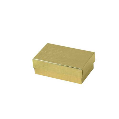 (#21) 2-1/2 x 1-1/2 x 7/8 GOLD LINEN JEWELRY BOXES
