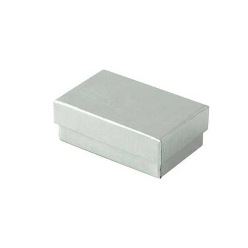(#21) 2-1/2 x 1-1/2 x 7/8 SILVER LINEN JEWELRY BOXES