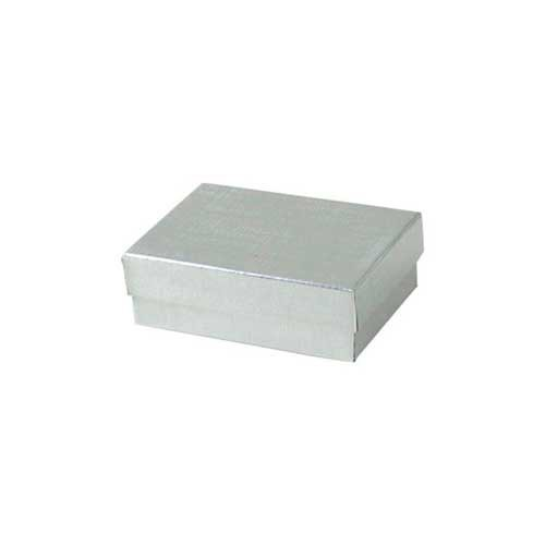 (#32) 3-1/16 x 2-1/8 x 1 SILVER LINEN JEWELRY BOXES
