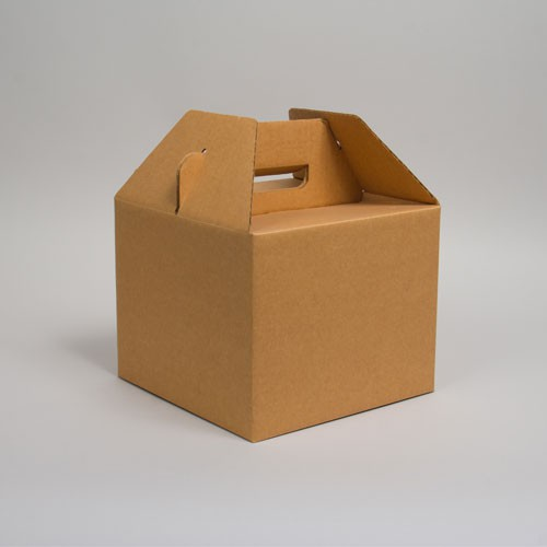 10 x 10 x 8 NATURAL KRAFT CORRUGATED GABLE BOXES