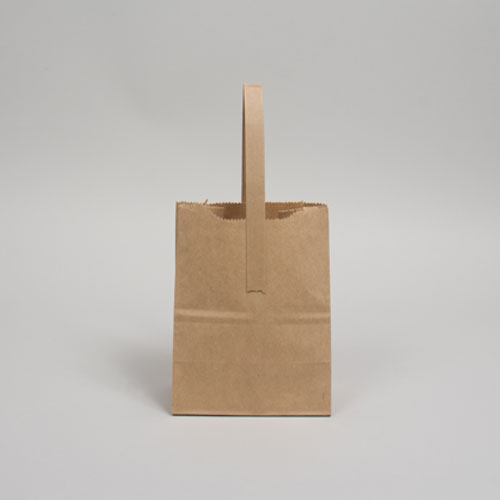 #5 6 x 4 x 8 NATURAL KRAFT FLAT HANDLE BAGS