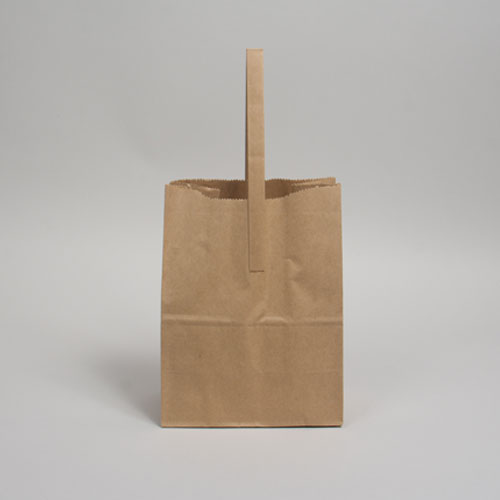#10 7.75 x 4.75 x 10 NATURAL KRAFT FLAT HANDLE BAGS