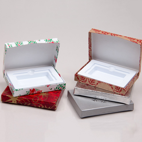 Holiday Gift Card Boxes with Platform Inserts