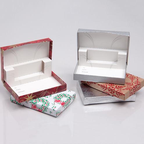 Holiday Gift Card Boxes with Paper Pop-up Inserts