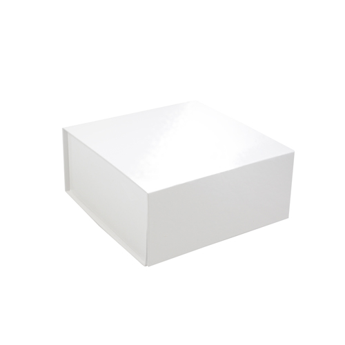 6 x 6 x 2-3/4 WHITE GLOSS MAGNETIC GIFT BOX
