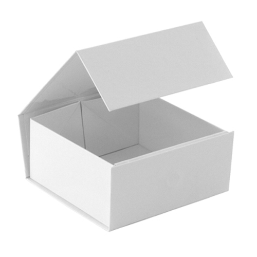 4-1/8 x 4 x 2 WHITE GLOSS MAGNETIC GIFT BOX