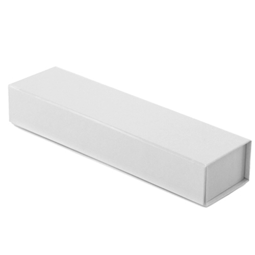 8 x 2 x 1-1/4 WHITE GLOSS MAGNETIC GIFT BOX