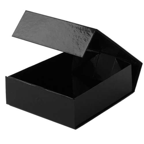 5-1/2 x 7 x 2 BLACK GLOSS MAGNETIC GIFT BOX