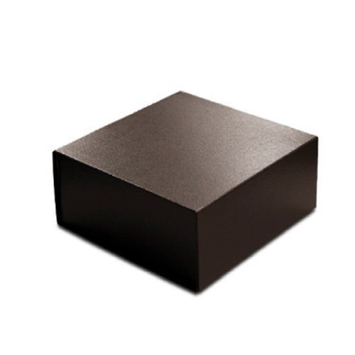 8 x 8 x 3 BROWN LEATHER MAGNETIC GIFT BOX